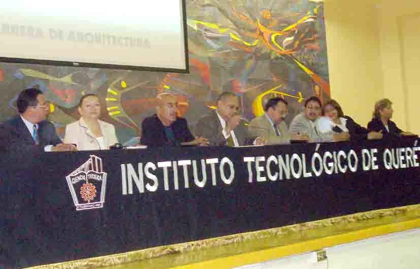 Celebr el instituto tecnol gico de quer taro xxx a os de for Arquitectura anos de carrera