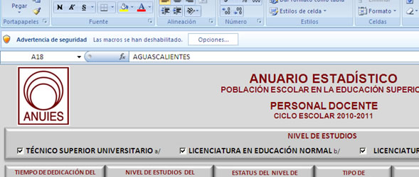 Advertencia de seguridad en Excel 2007