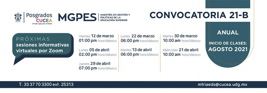 Convocatoria 21b MGPES